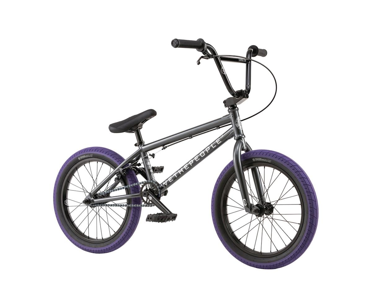"""We The People CRS 18"""" 2018 Complete BMX Bike 18"""" Top Tube Anthracite"""