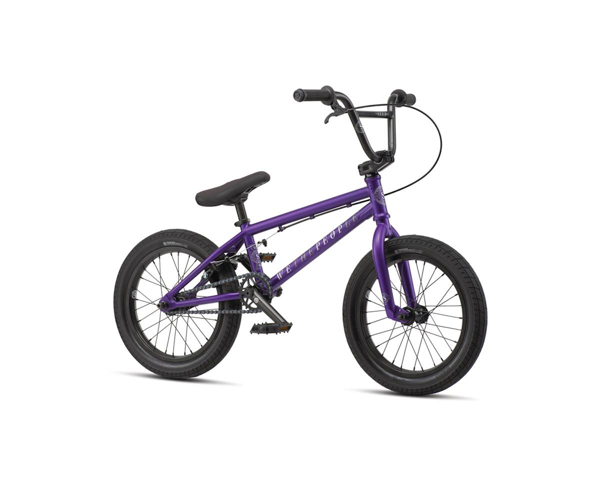 We The People Seed 16 2019 Complete BMX Bike 16 Top Tube Matte Purple