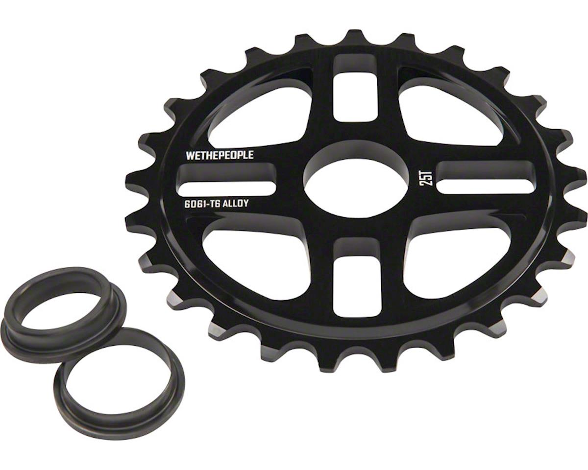 4Star Sprocket 25t Black 23.8mm Spindle Hole With Adaptors for 19m