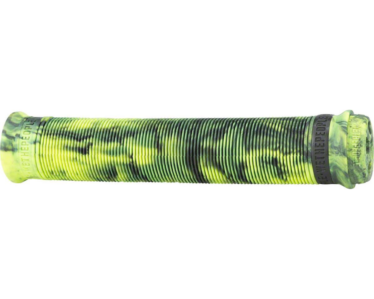 Hilt XL Flangeless Grip Purple and Neon Green Marble 160mm Length,