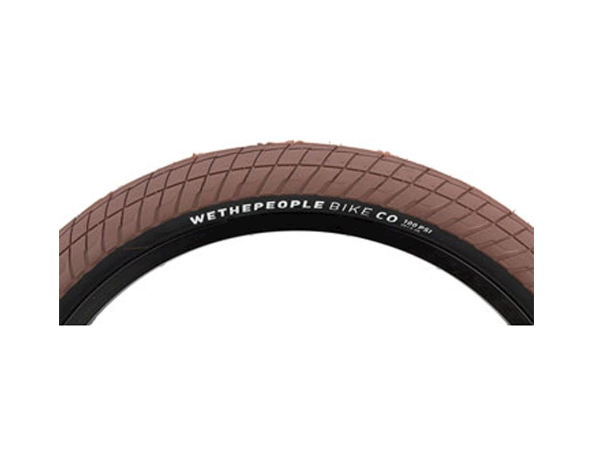 """We The People Overbite Tire 22"""" x 2.3"""" 100 PSI Brown Tread/Black Sidewall"""