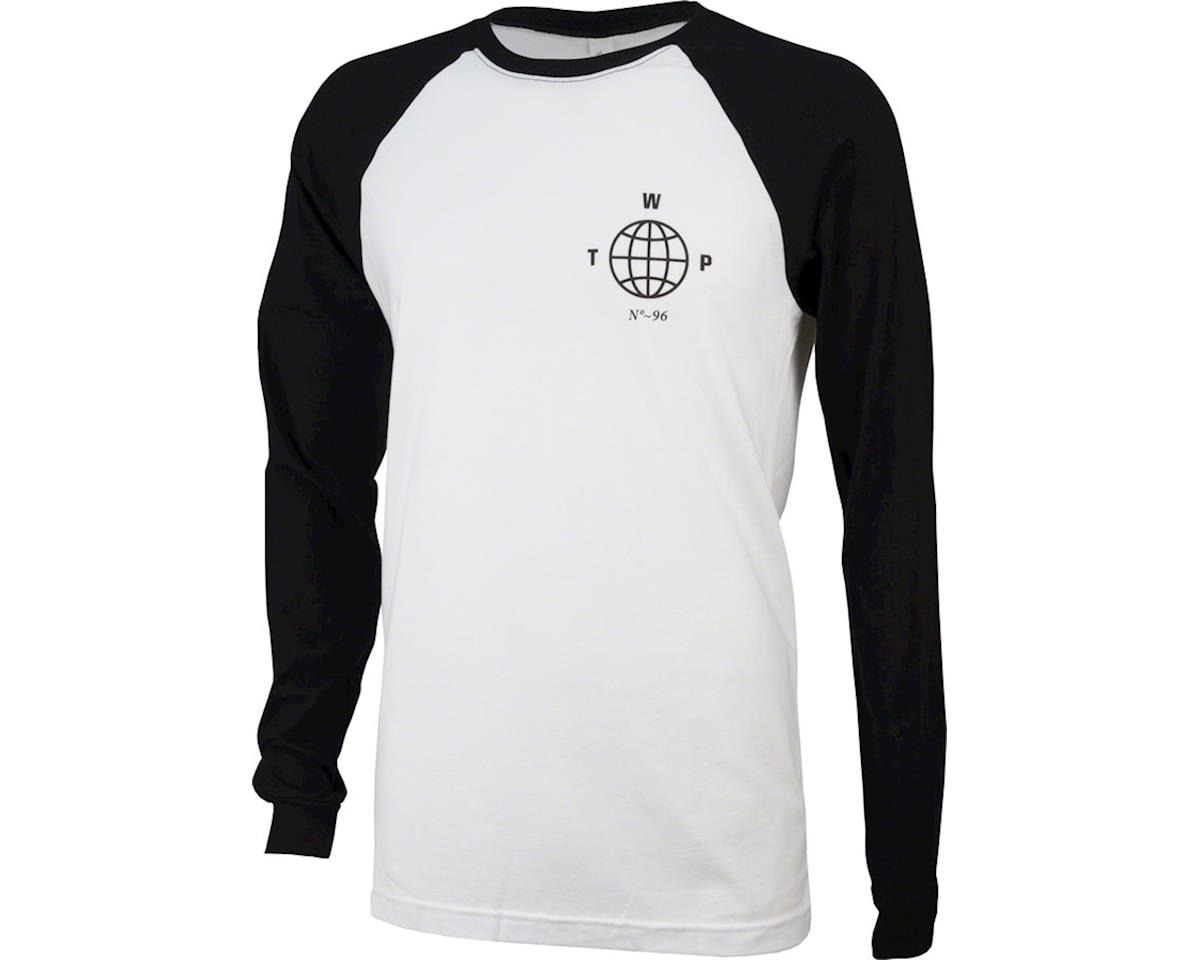 We The People Globe Long Sleeve Baseball T-Shirt: Black/White XL