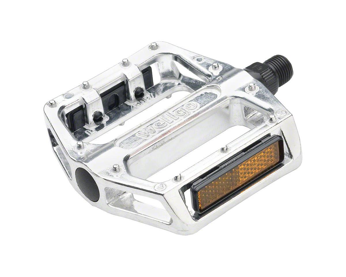 """Wellgo B087 Pedals - Platform, Aluminum, 1/2"""", Silver"""