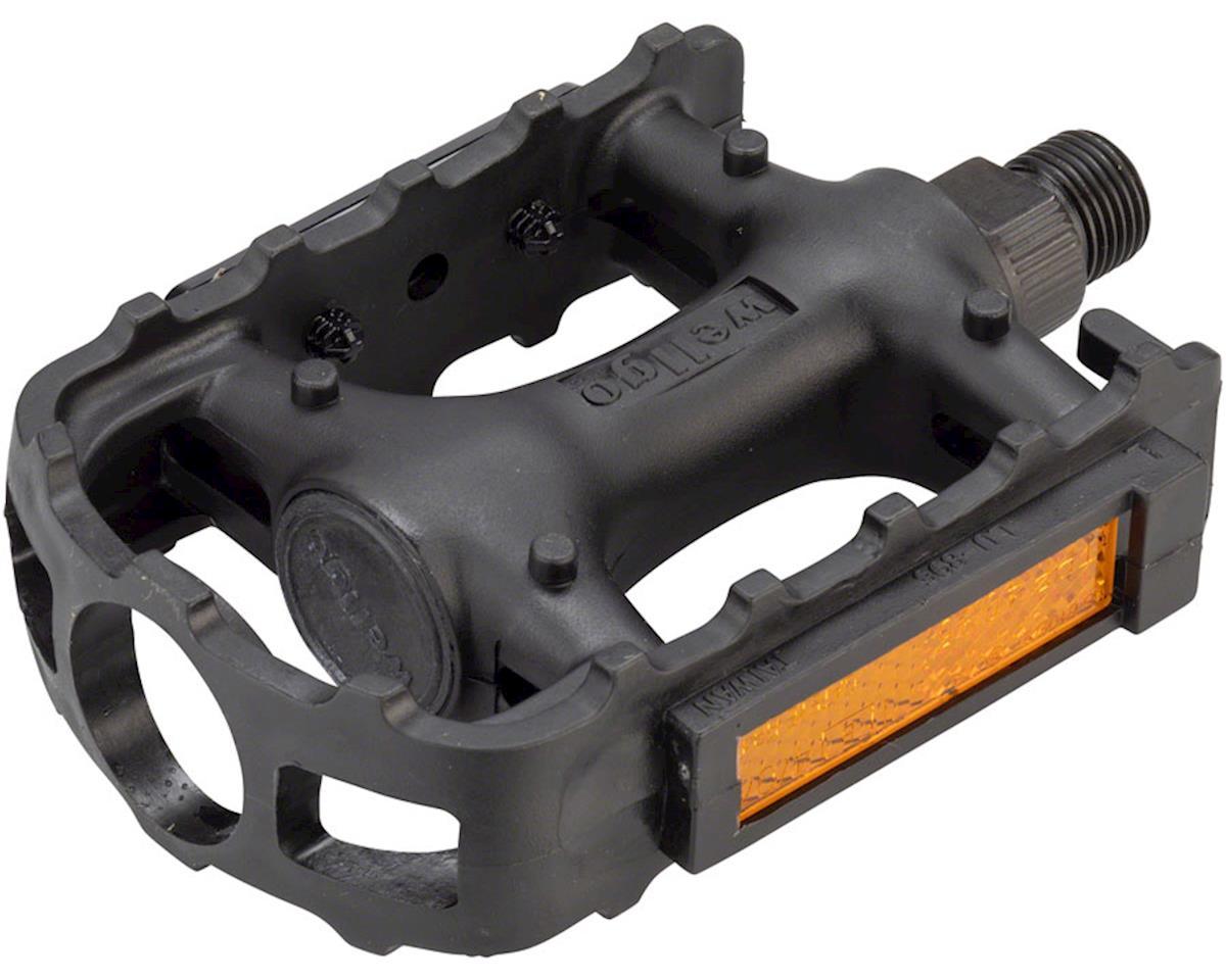 "Wellgo LU-895 Pedals - Platform, Plastic, 1/2"", Black"