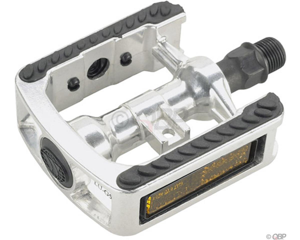 """Wellgo WG5 Pedals - Platform, Aluminum, 9/16"""", Silver"""