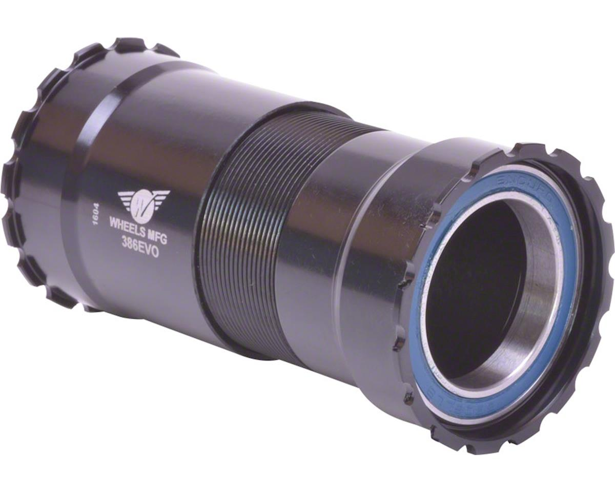 Wheels Manufacturing 386EVO Bottom Bracket w/ ABEC-3 Bearings (Black Cups)