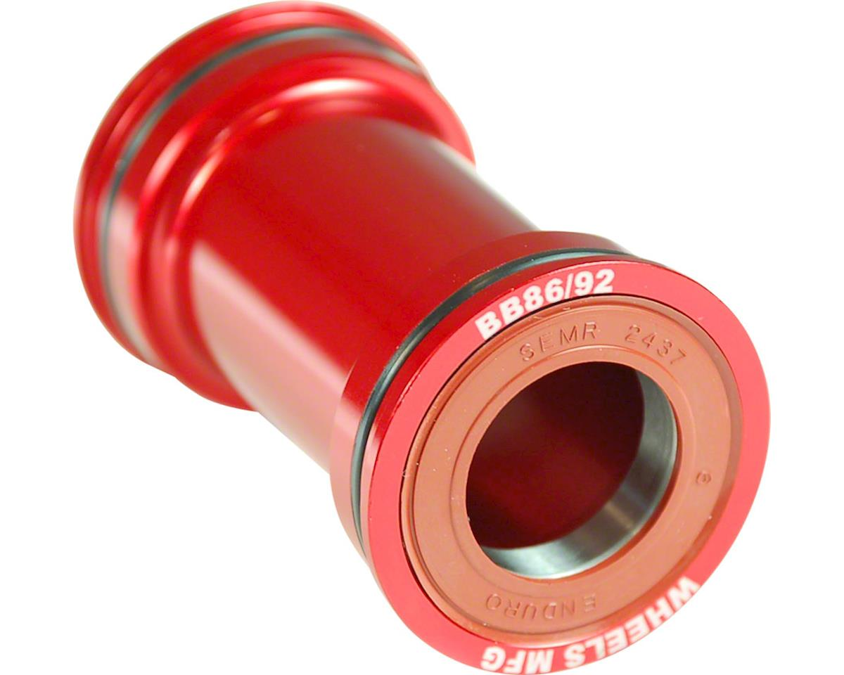 Wheels Manufacturing BB86/92 Shimano Bottom Bracket (Pressfit) (Red Cups)