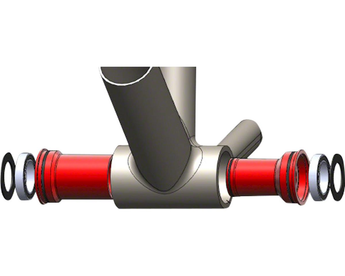 Wheels Manufacturing BB86/92 SRAM Bottom Bracket (Pressfit) (Red Cups)