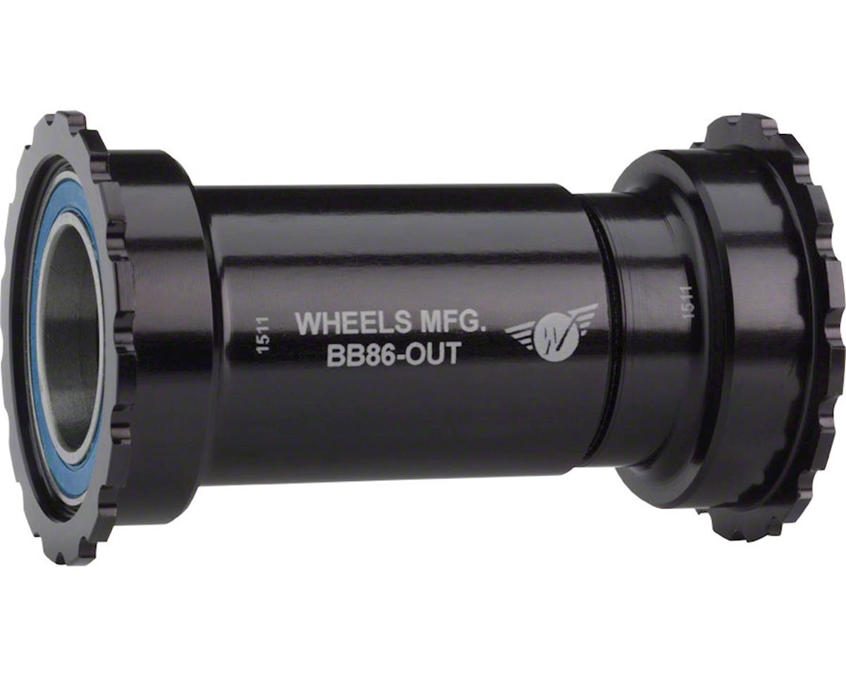 Wheels Manufacturing BB86/92 Shimano Bottom Bracket (Threaded) (Balck Cups)