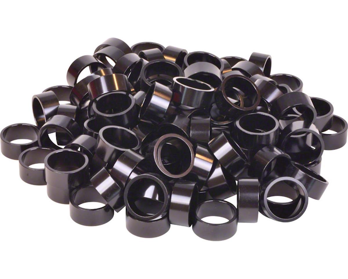 "Wheels Manufacturing Bulk Headset Spacers 1-1/8"" x 15mm Black, Bag of 100"