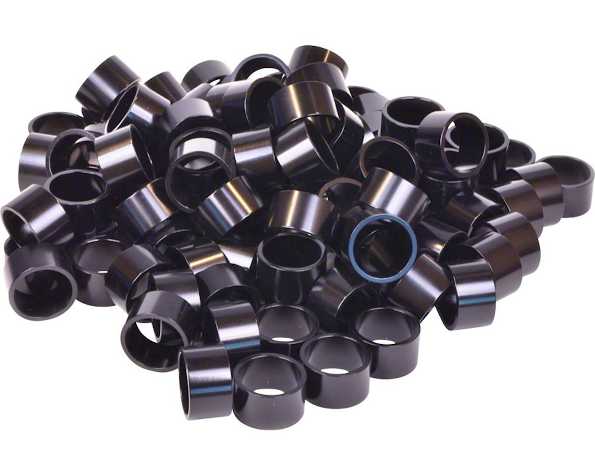 "Wheels Manufacturing Bulk Headset Spacers 1-1/8"" x 20mm Black, Bag of 100"