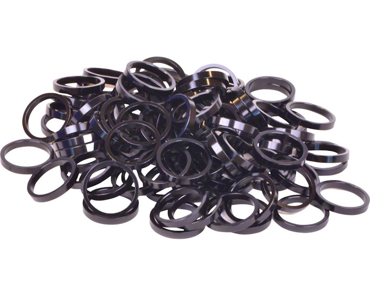 "Wheels Manufacturing Bulk Headset Spacers 1-1/8"" x 5mm Black, Bag of 100"