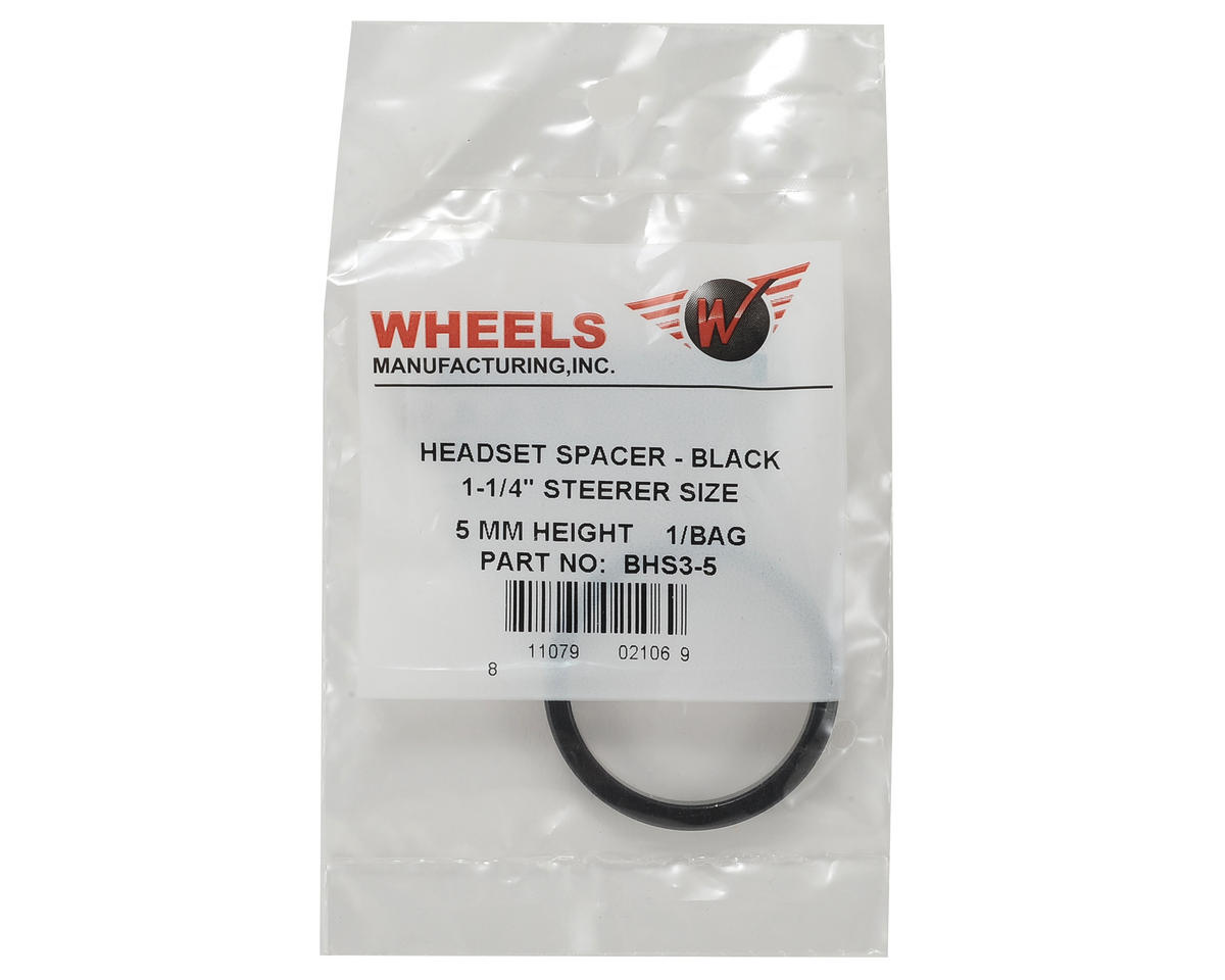 "Wheels Manufacturing Headset Spacer 1-1/4"" 5mm (Black) (Individual)"