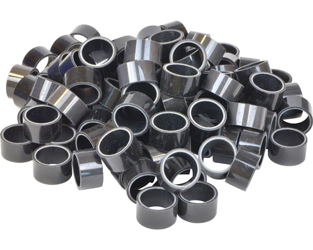 """Wheels Manufacturing 15mm x 1-1/8"""" Bulk Unidirectional Carbon Headset Spacers, B"""