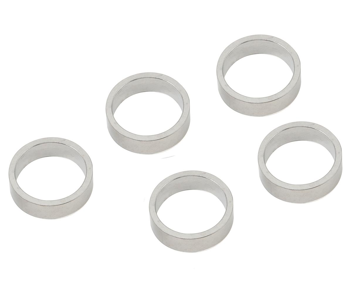 "Wheels Manufacturing 10mm 1-1/8"" Headset Spacers (Silver) (Bag/5)"