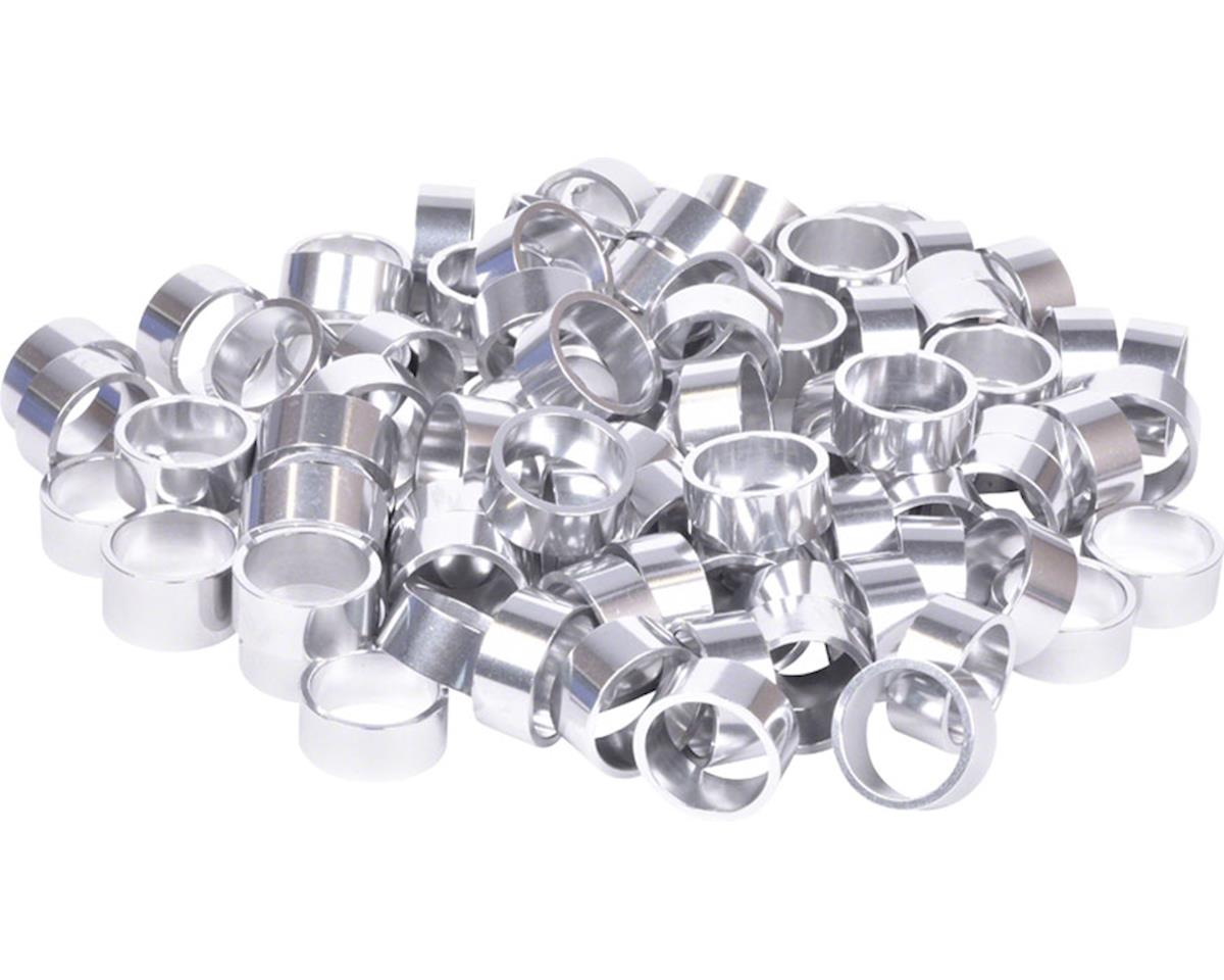 """Wheels Manufacturing Bulk Headset Spacers 1-1/8"""" x 15mm Silver, Bag of 100"""