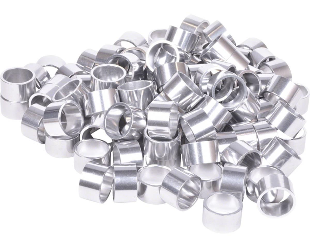 """Wheels Manufacturing Bulk Headset Spacers 1-1/8"""" x 20mm Silver, Bag of 100"""
