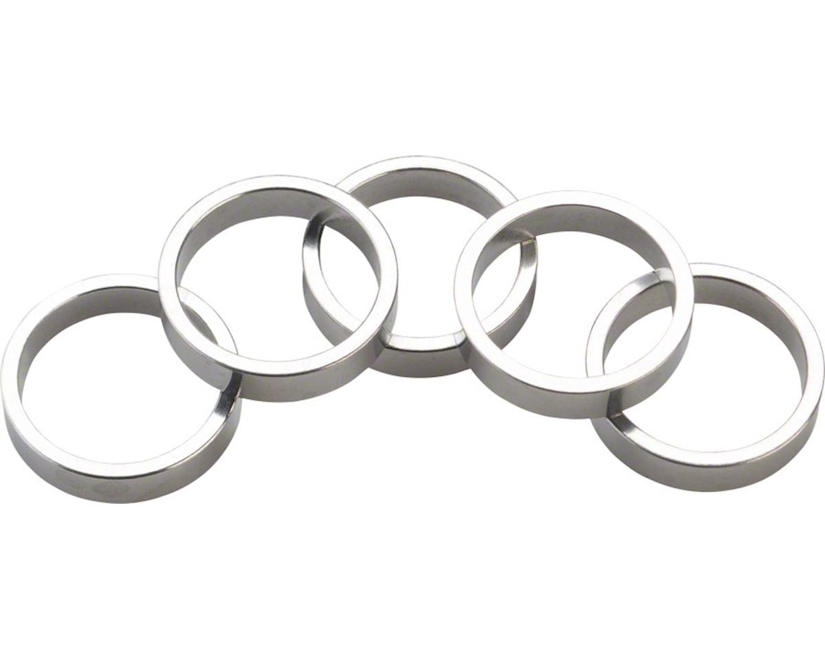 "Wheels Manufacturing 1-1/8"" Headset Spacer (Silver) (Bag of 5) (7.5mm)"