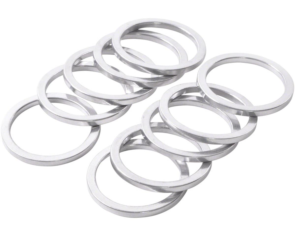 "Wheels Manufacturing 1"" Headset Spacer (Silver) (Bag of 10) (2.5mm)"