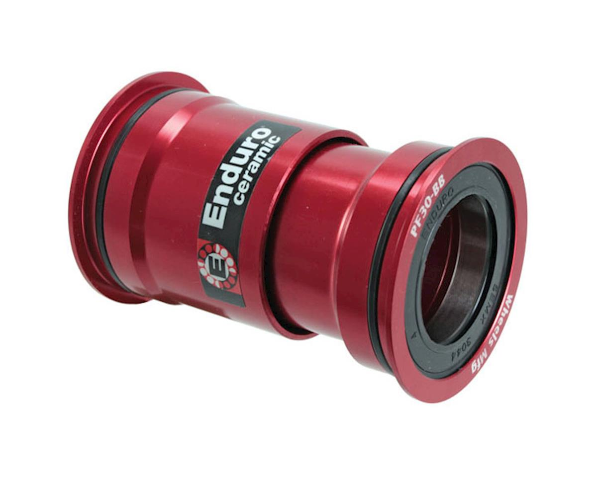 Wheels Manufacturing PressFit30 Bottom Bracket Red Aly Ceramic