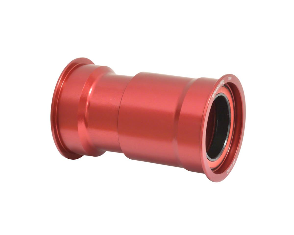 Wheels Manufacturing PF30 Bottom Bracket (Red) (w/ ZERO Ceramic Hybrid Bearings)