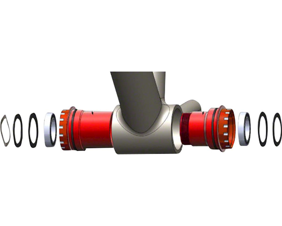 Wheels Manufacturing PF30 Bottom Bracket (Red) (24mm Spindle)