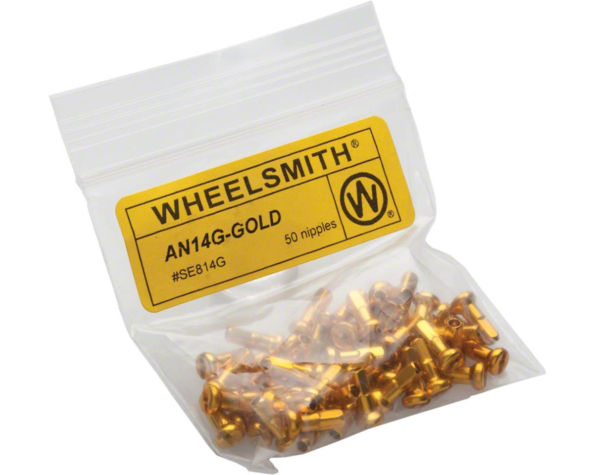 Wheelsmith 2.0 x 12mm Gold Alloy Nipples, Bag of 50