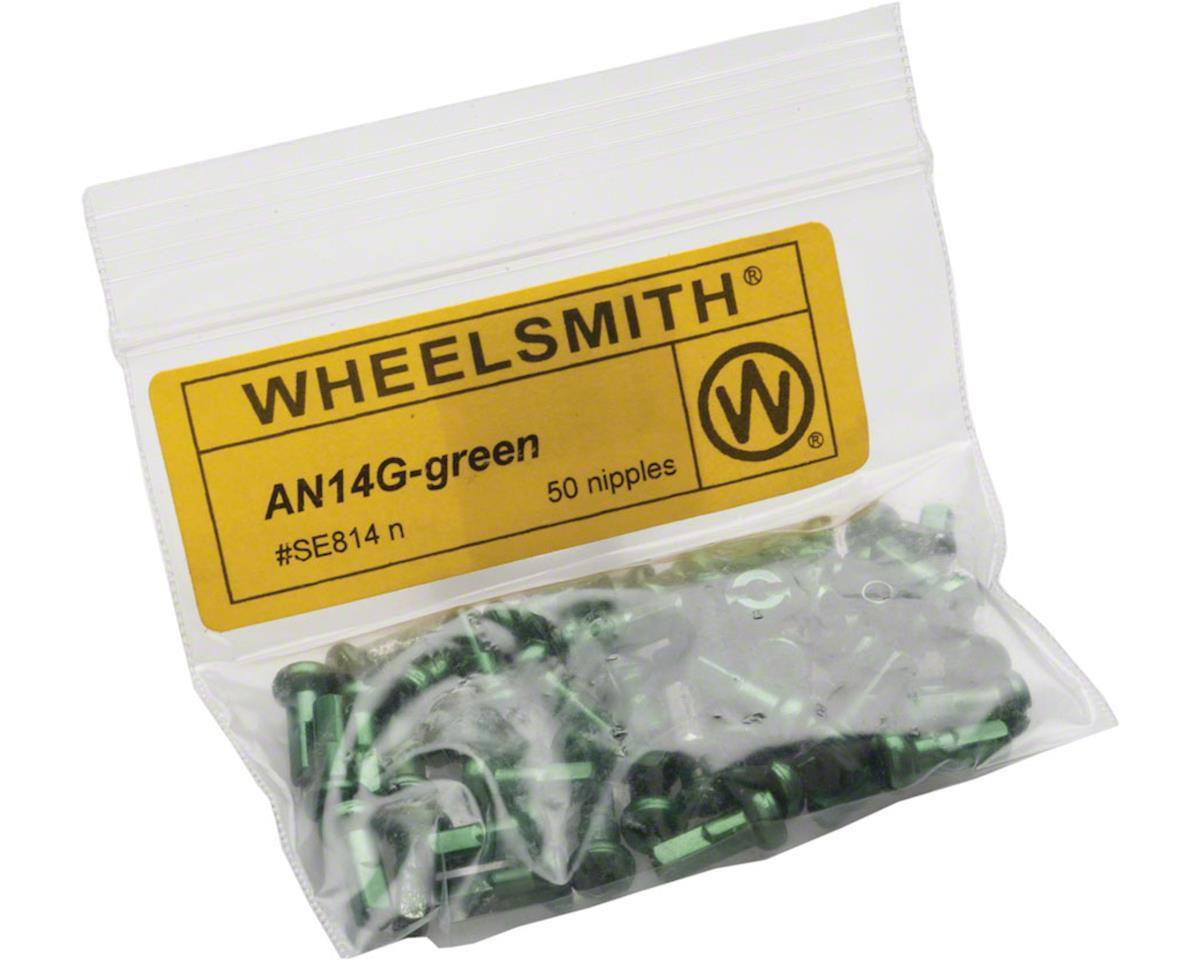 2.0 x 12mm Green Alloy Nipples, Bag of 50