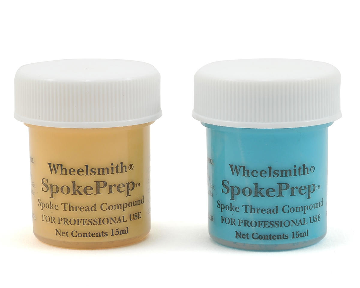 Wheelsmith Double Spoke Prep (2 15mL Bottles) (One Each Orange & Blue)