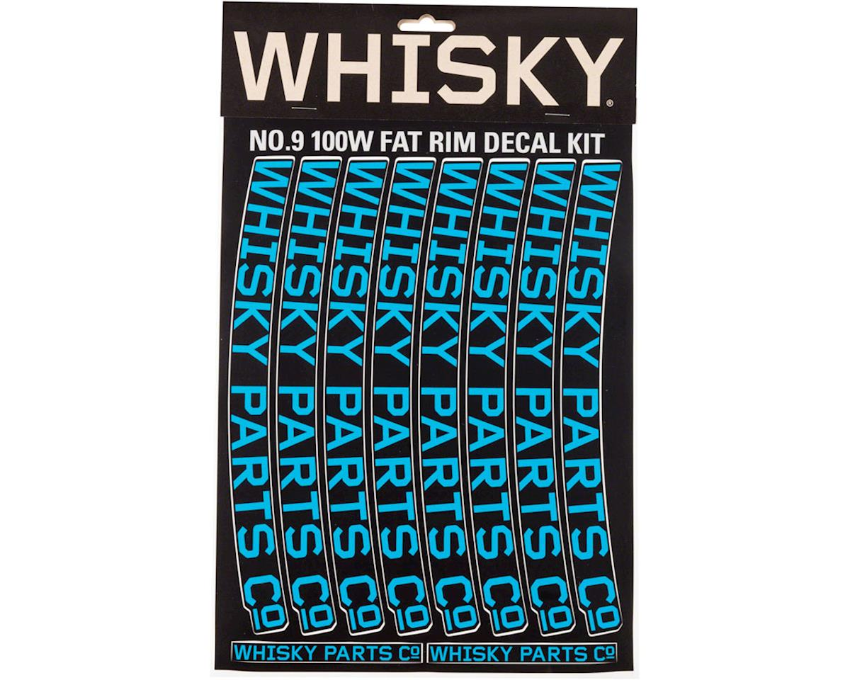 Whisky 100w Rim Decal Kit for 2 Rims Cyan
