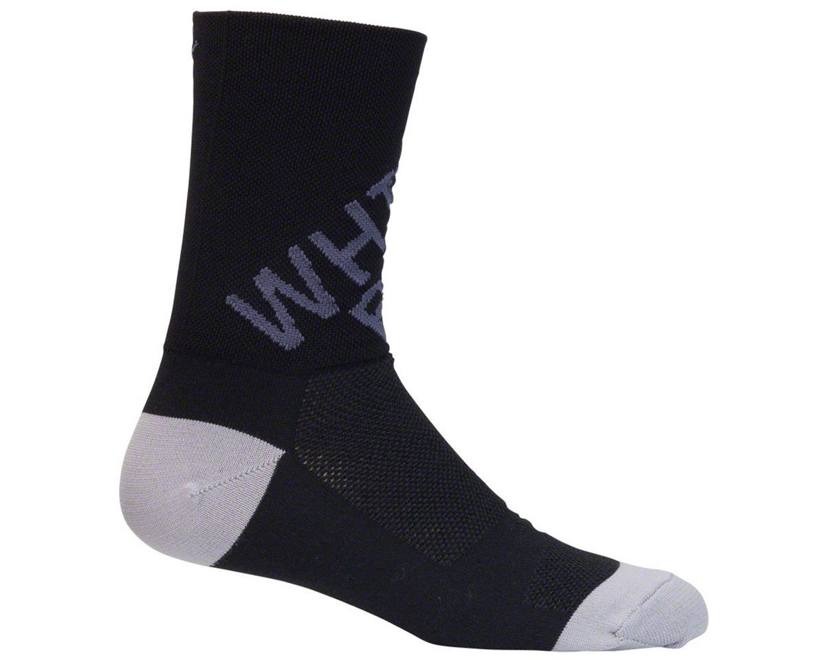 "5"" Cuff Logo Cycling Socks (Black/Gray)"