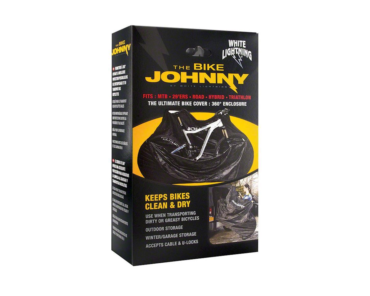 White Lightning Bicycle Saddle Johnny Seat Cover Black