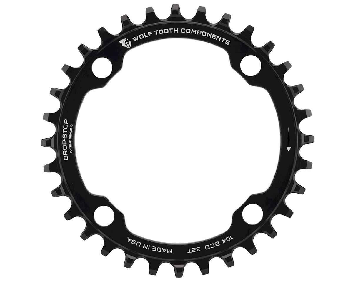 Wolf Tooth Components Drop-Stop Single Chainring (104 BCD) (32T) (Black)