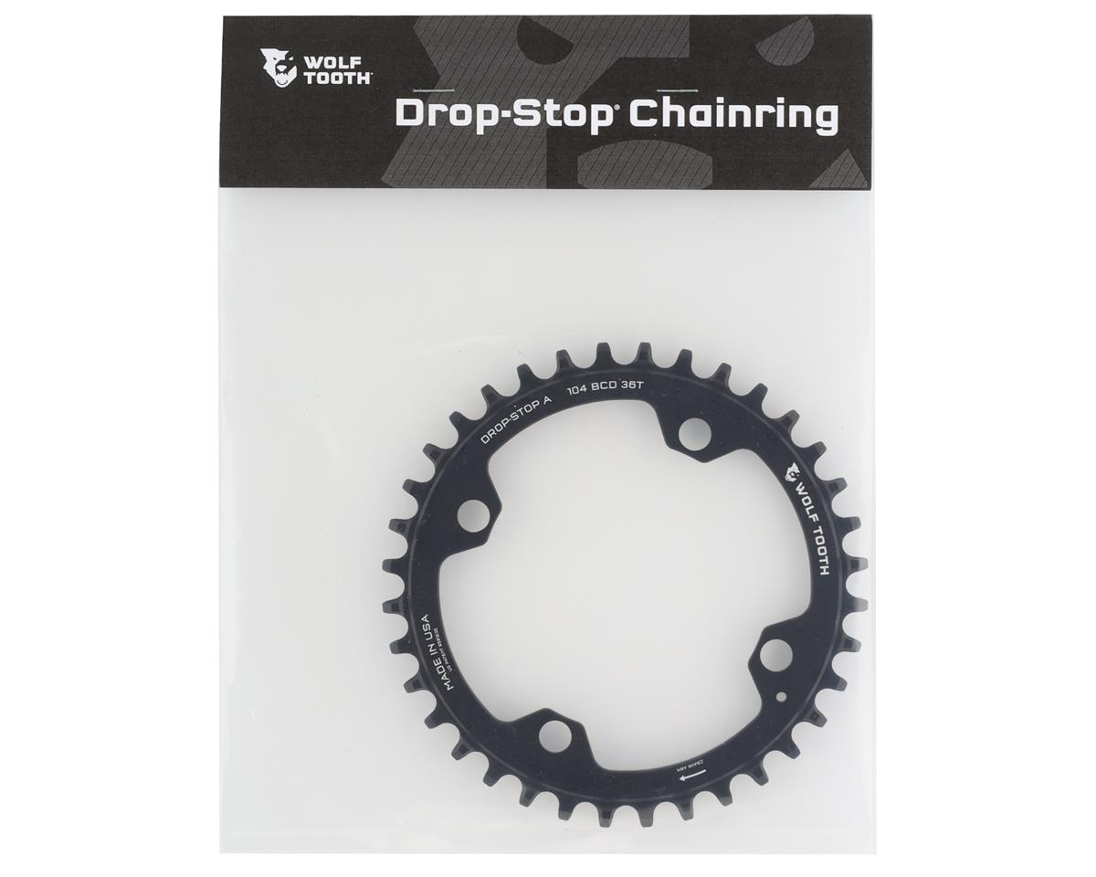 Wolf Tooth Components Drop-Stop Chainring (Black) (104 BCD) (36T)