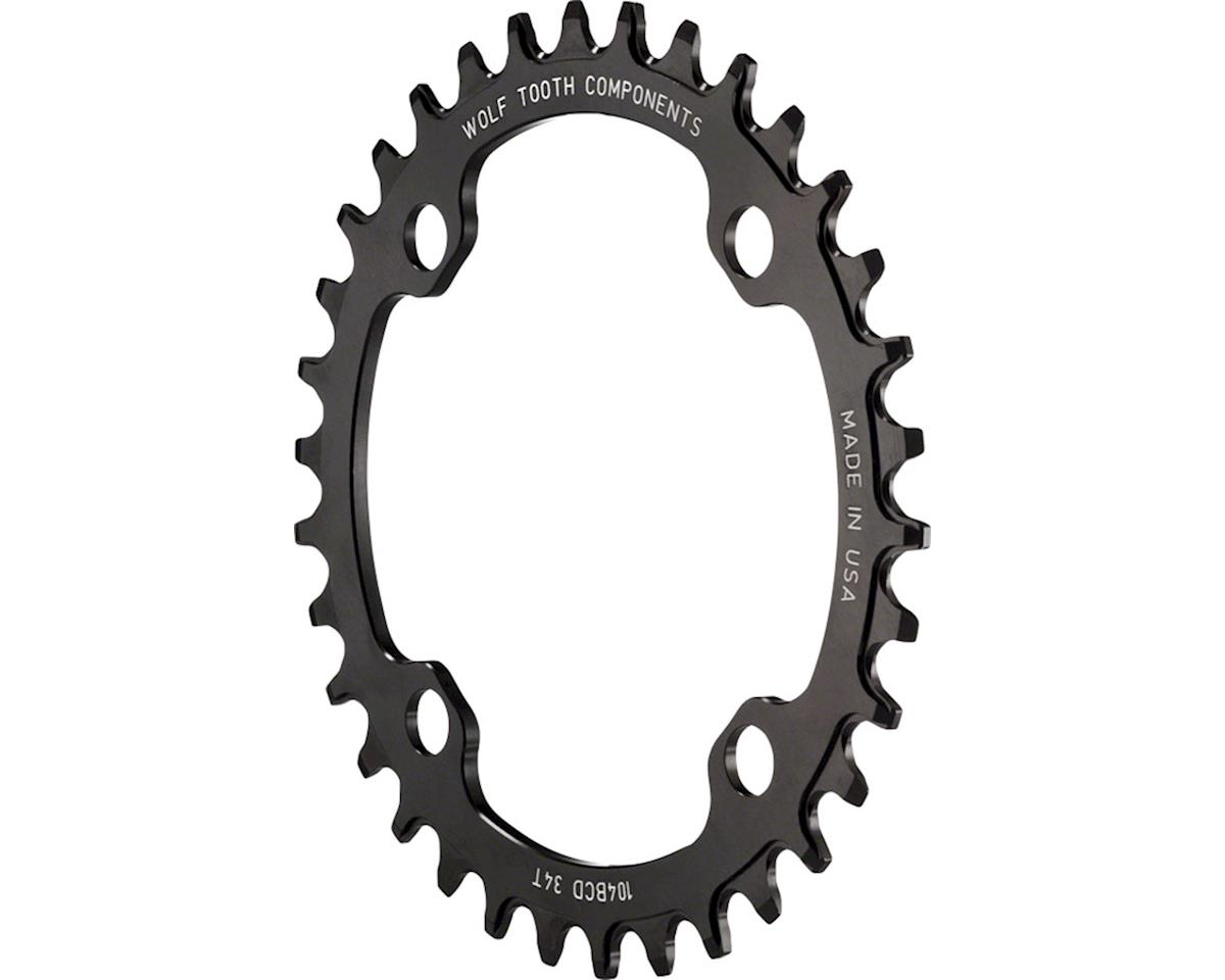 Wolf Tooth Components Drop-Stop Chainring (Black) (104 BCD) (38T)