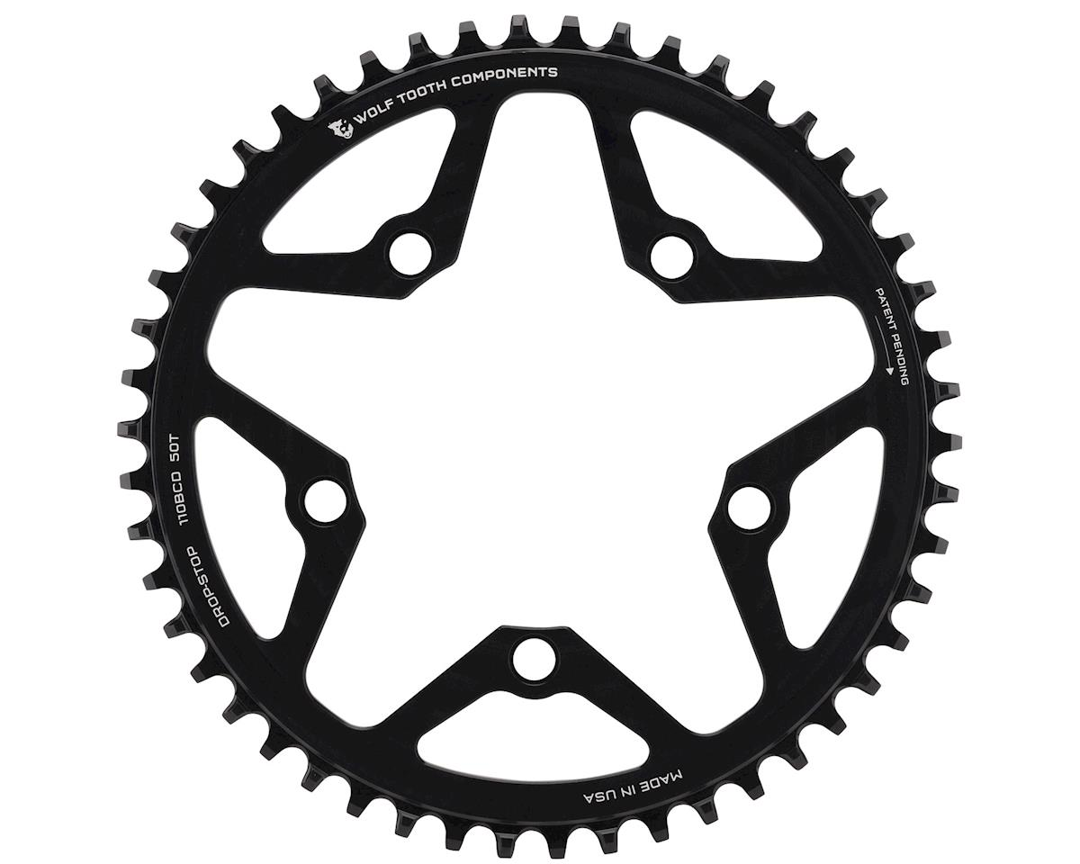 Wolf Tooth Components Drop-Stop Chainring (110BCD) (Black) (50T)