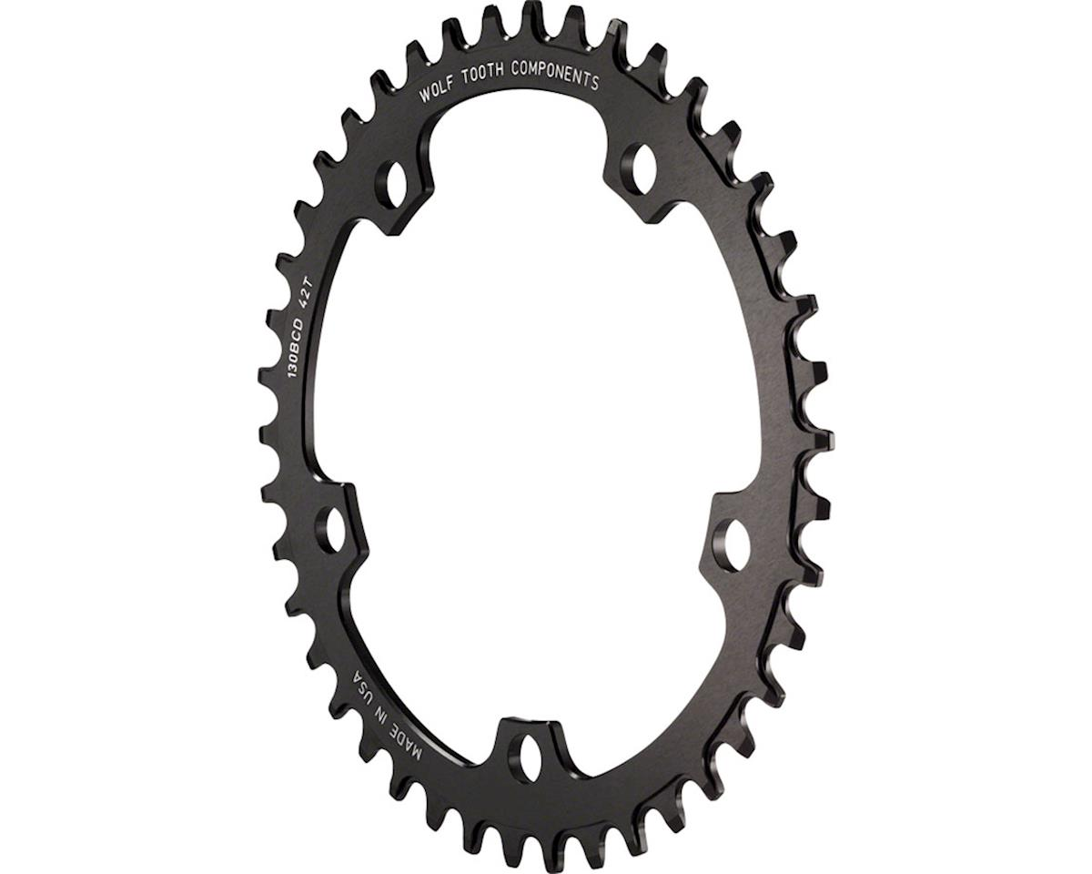 Wolf Tooth Components Drop-Stop Chainring (110BCD) (Black) (52T)