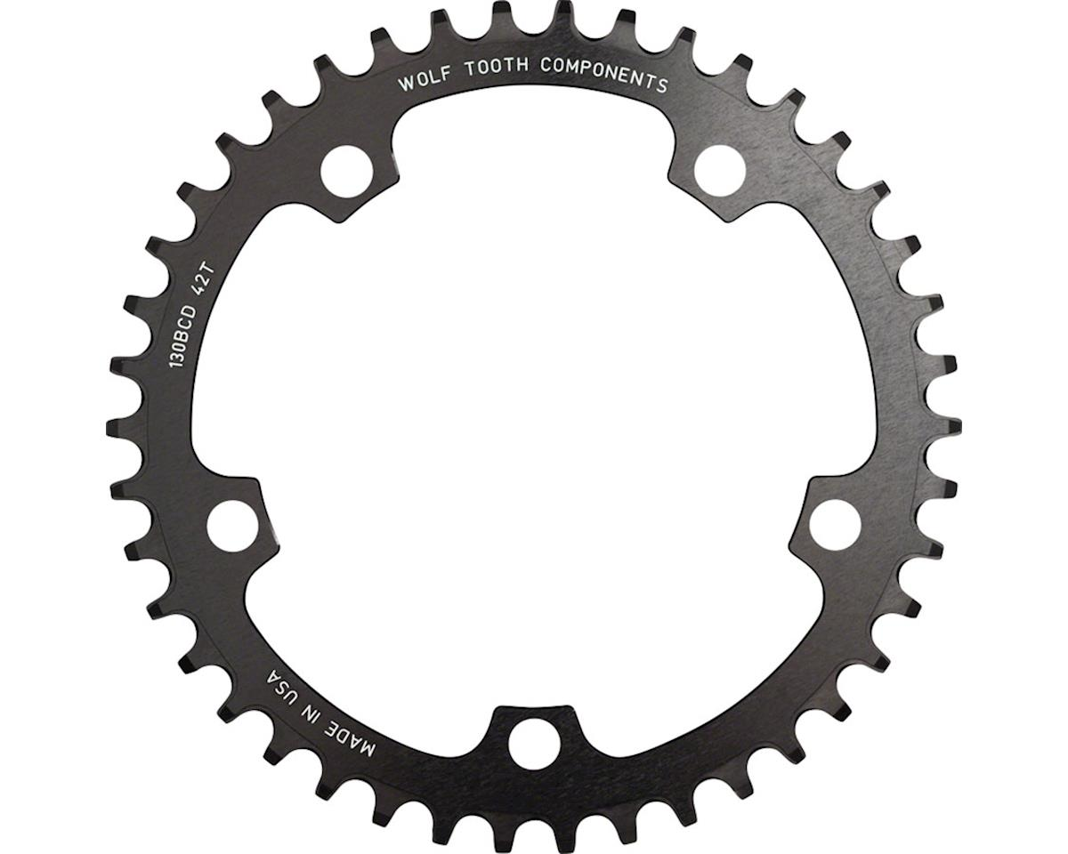 Wolf Tooth Components Drop-Stop Chainring (Black) (130BCD) (52T)