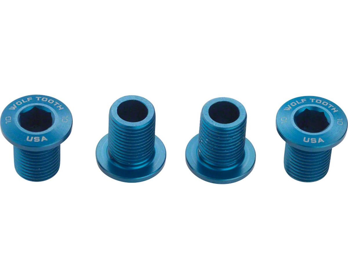 Wolf Tooth Components Set of Chainring Bolts (Blue) (10mm long) (4ct)