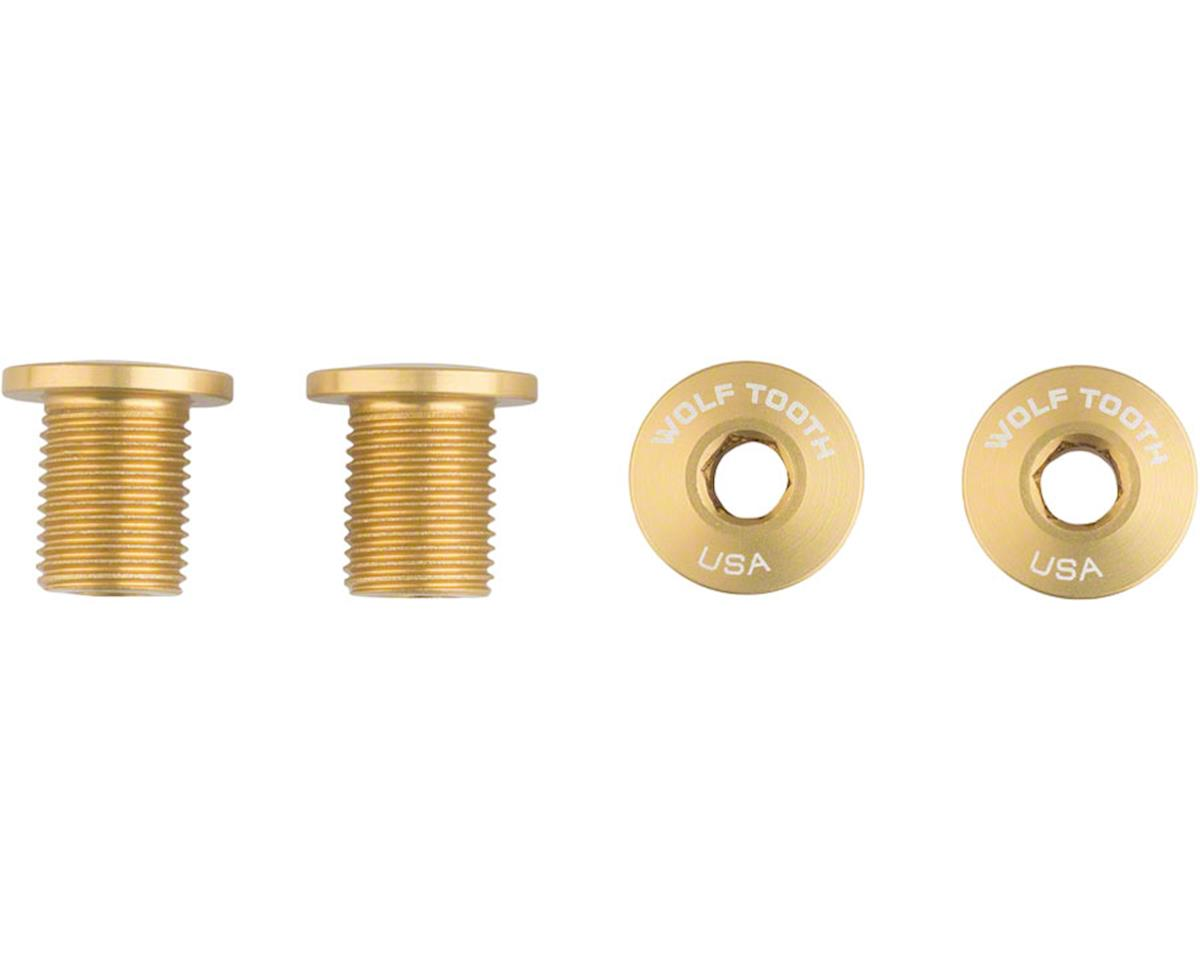 Wolf Tooth Components Set of Chainring Bolts (Gold) (10mm long) (4ct)