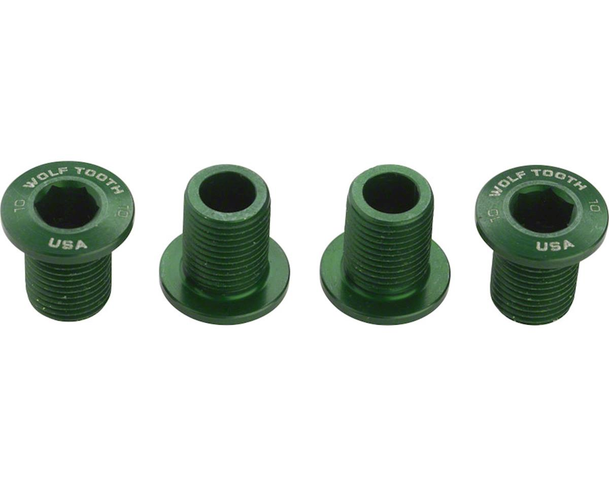 Wolf Tooth Components Set of Chainring Bolts (Green) (10mm long) (4ct)