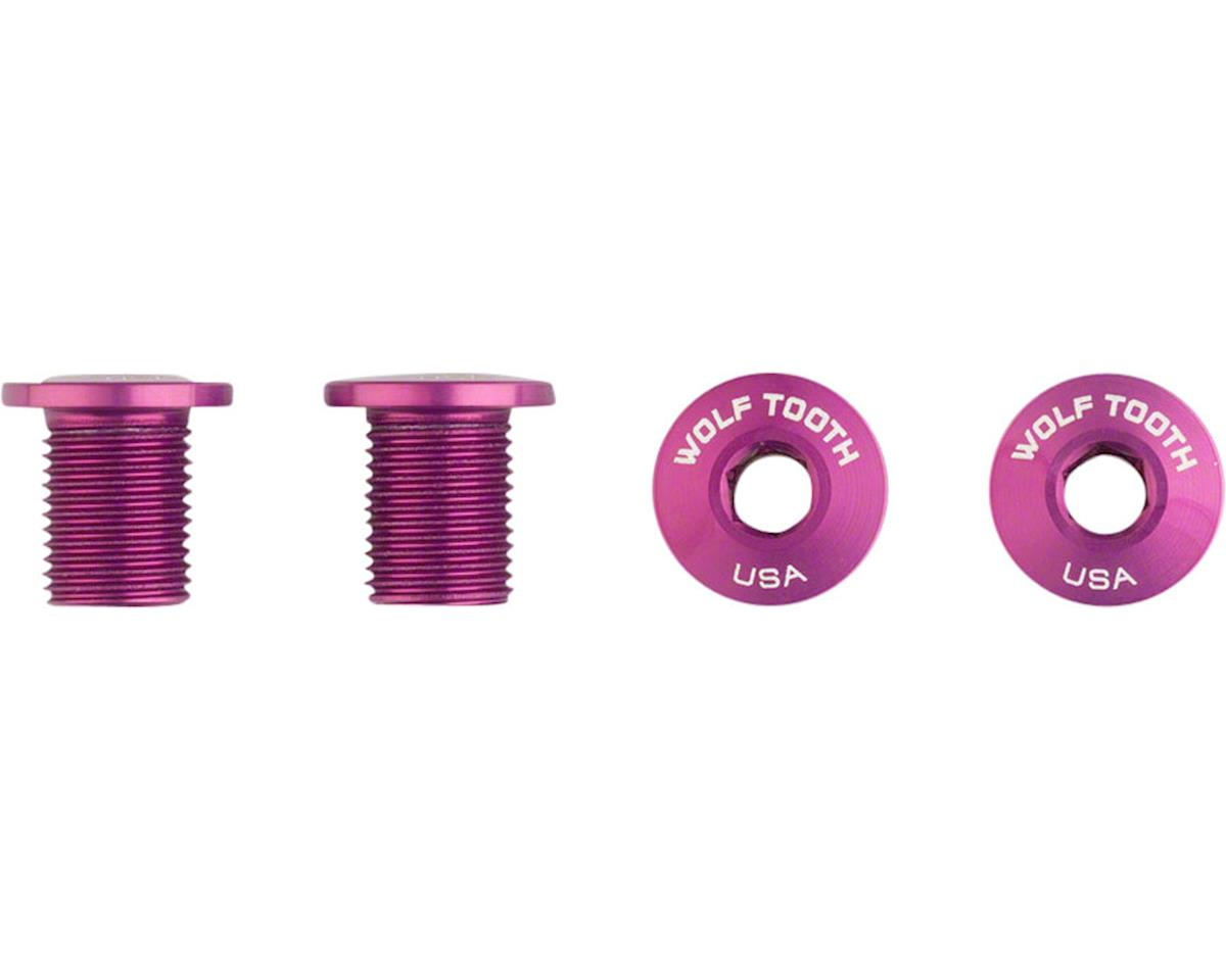 Wolf Tooth Components Set of Chainring Bolts (Purple) (10mm long) (4ct)