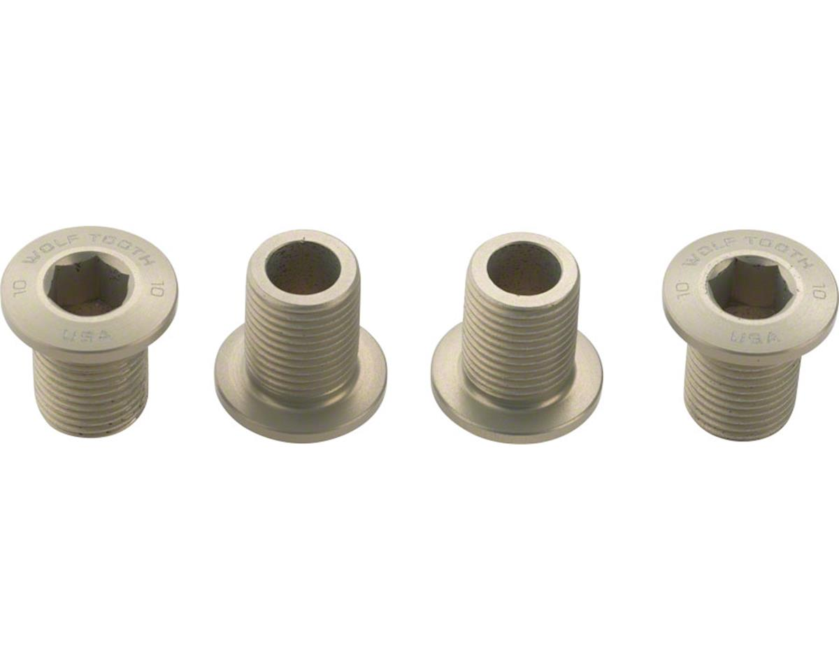 Set of Chainring Bolts (Silver) (10mm long) (4ct)
