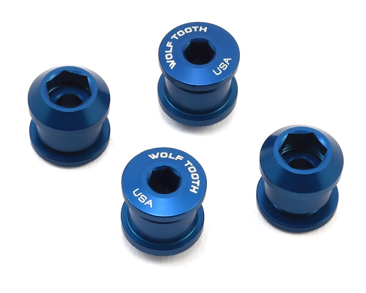 Wolf Tooth Components Chainring Bolt: 1x 6mm Dual Hex Fittings (Blue) (4ct)