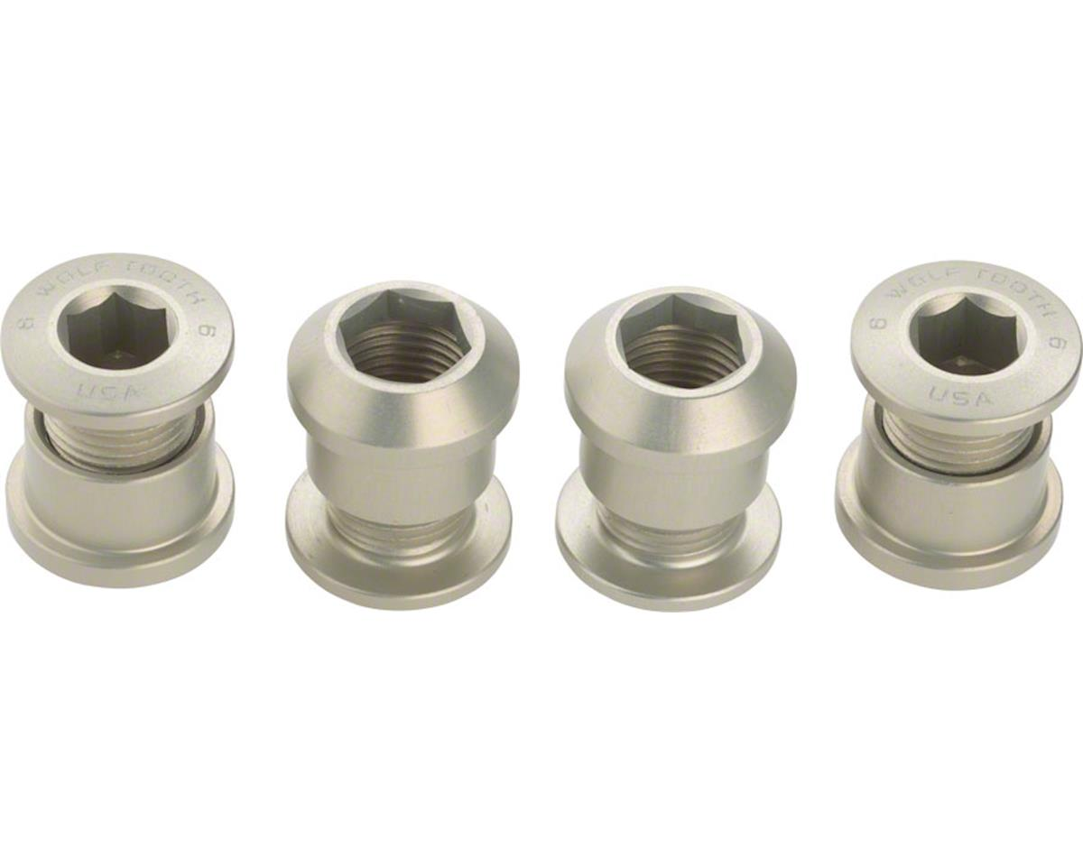 Wolf Tooth Components Chainring Bolts (Silver) (4ct) (Dual Hex Fittings)