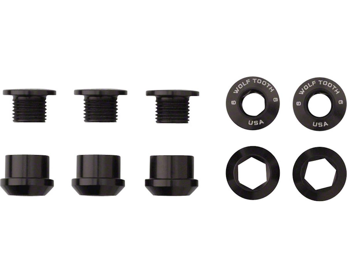 Wolf Tooth Components Chainring Bolts (Black) (4ct) (Dual Hex Fittings)