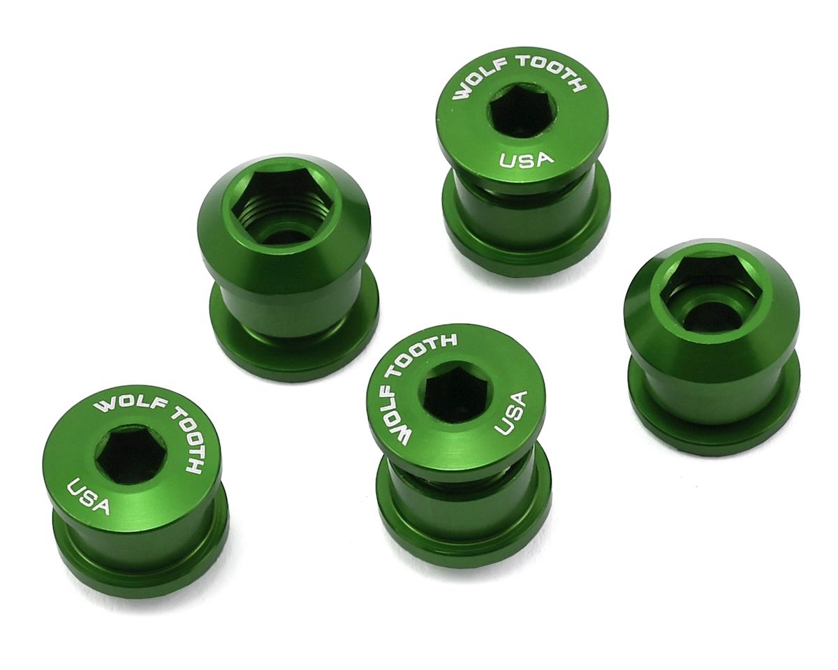 Wolf Tooth Components Chainring Bolt: 1x 6mm Dual Hex Fittings (Green) (5ct)