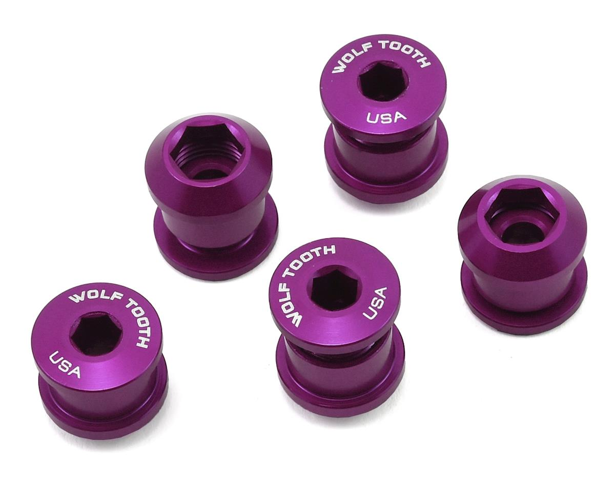 Wolf Tooth Components Chainring Bolt: 1x 6mm Dual Hex Fittings (Purple) (5ct)