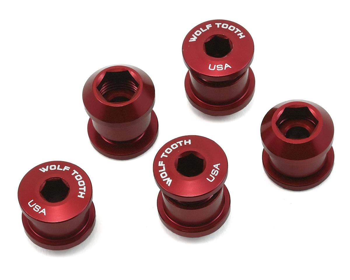 Wolf Tooth Components Chainring Bolt: 1x 6mm Dual Hex Fittings (Red) (5ct)