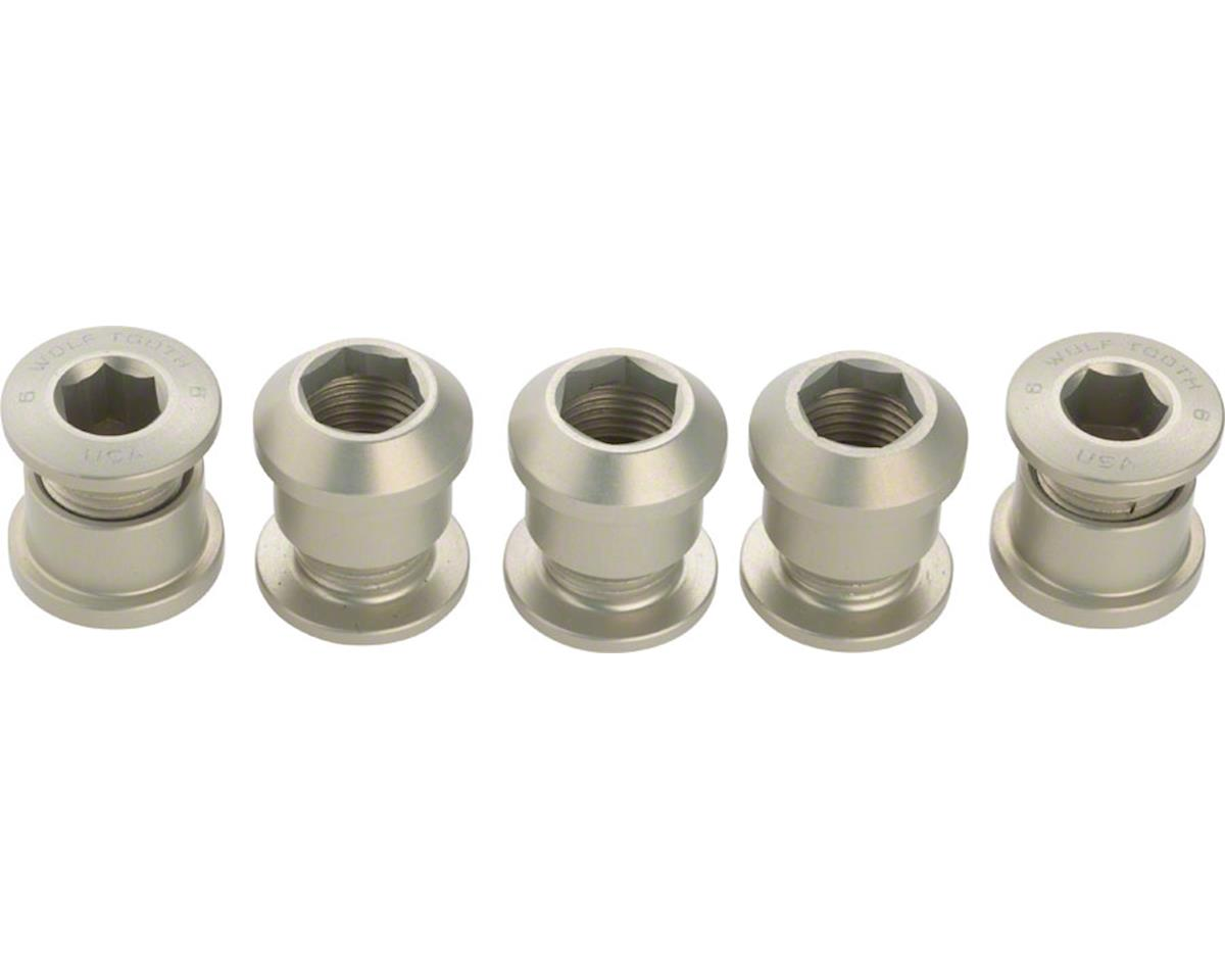 Wolf Tooth Components Chainring Bolts (Silver) (5ct) (Dual Hex Fittings)